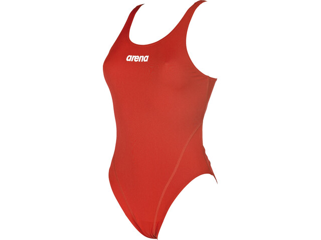 arena Solid Swim Tech High Traje de baño de una pieza Mujer, red-white